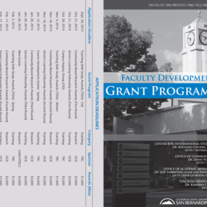 Grant Programs flyer for CSUSB Teaching Resource Center